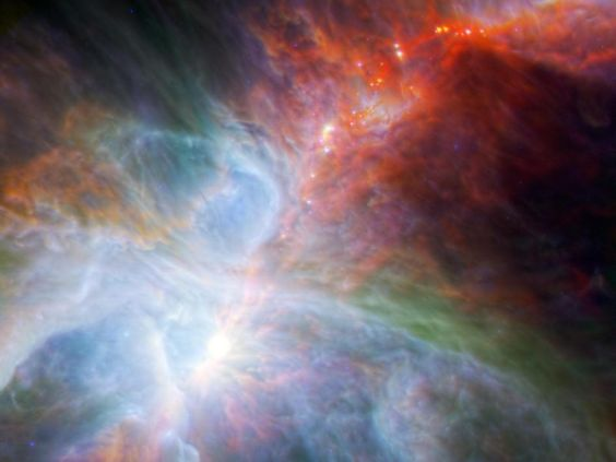 Orion's rainbow of infrared light.