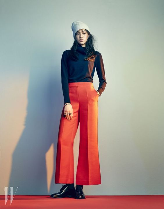 Kim Seol Hee's outfit in W magazine