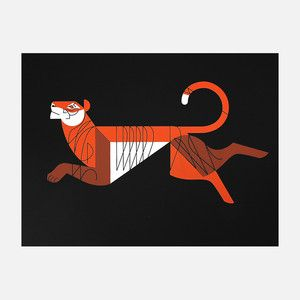 Bengal Print 25x19 now featured on Fab.