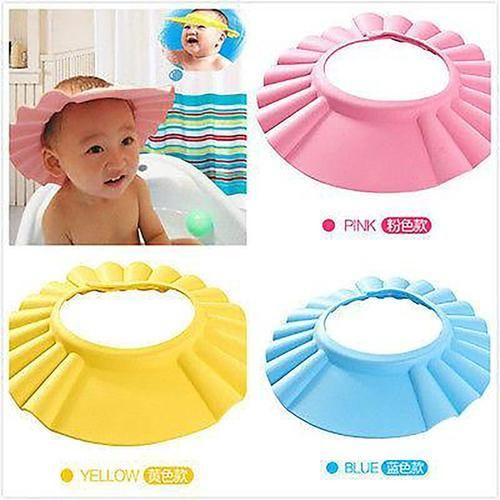 Useful Baby Shower Cap Children Shampoo Bath Wash Hair Shield Hat Soft Adjustable Baby Shower Cap Shampoo Cap Kids Shampoo