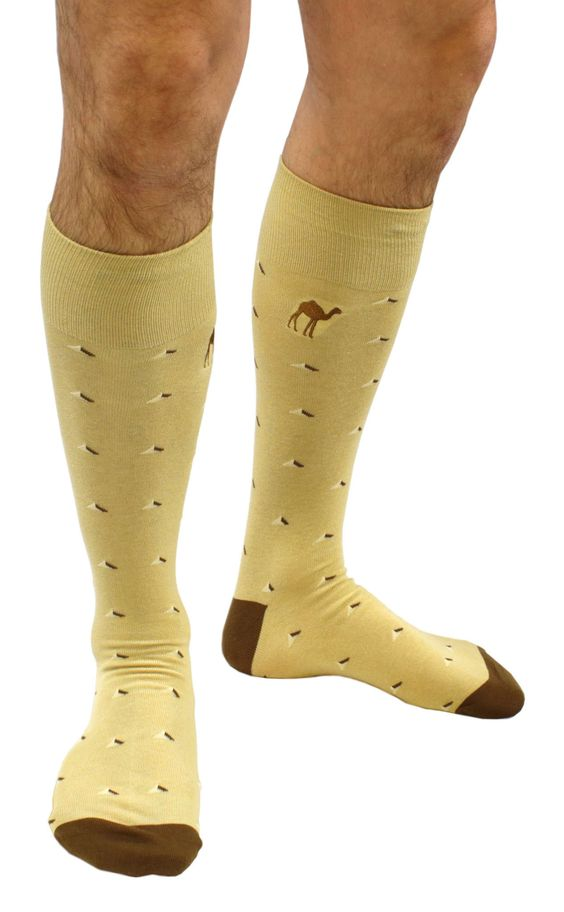 """Camel Toes"", camel themed cotton dress socks from Soxfords!  #soxfords #socks:"