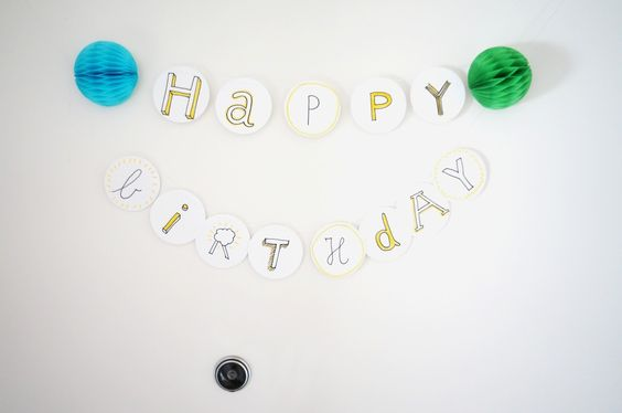 Geburtstagsgirlande nähen, birthday garland decoration DIY