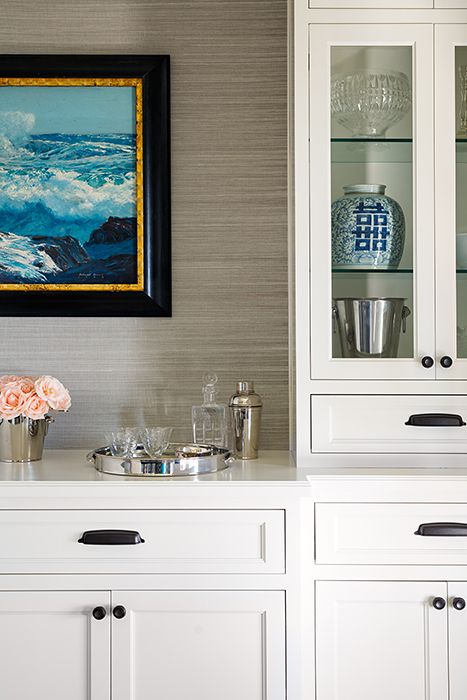 Built in buffet built ins and buffet on pinterest for Built in dining room buffet ideas