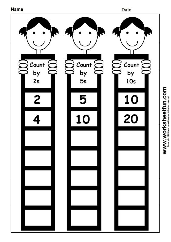 Skip Counting by 2, 5 and 10 | Printable Worksheets | Pinterest ...