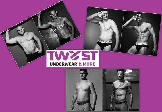 """Wat nu als """"echte mannen"""" model staan in ondergoed reclames? Beter of toch niet?"""