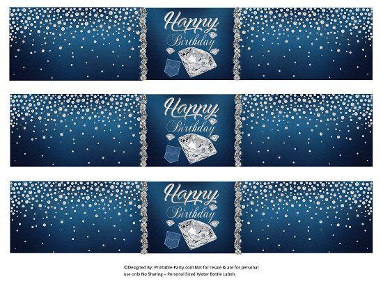 Denim /& Diamonds Birthday Party Stickers Denim /& Diamonds Birthday Party Favor Tags Denim /& Diamonds Birthday Party Decorations Denim /& Diamonds Party Stickers