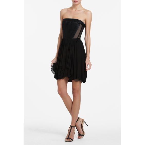 BCBG  REYNA STRAPLESS COCKTAIL DRESS  QUK6O209-001