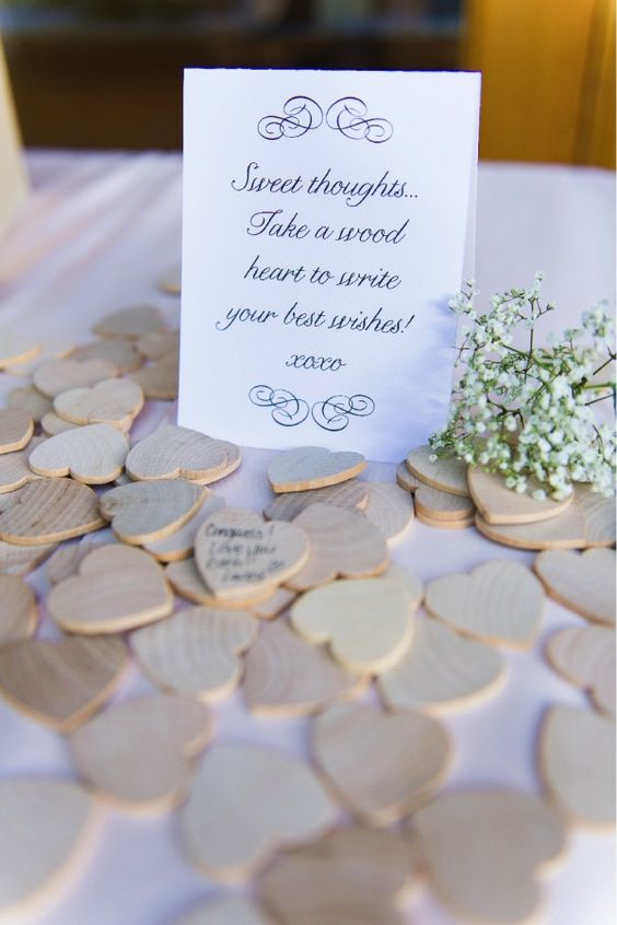 Sweet Thoughts - fun idea for an alternative wedding guestbook!