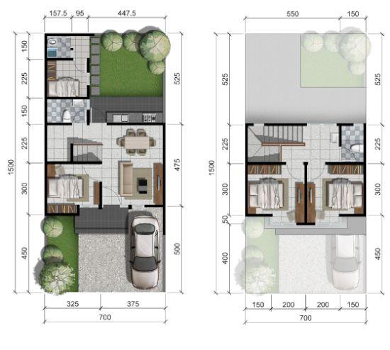 Gambar Desain Rumah Minimalis 7 X 15  pin di denah rumah minimalis terbaru
