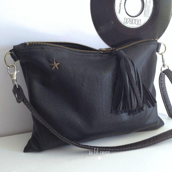 Lien pour tuto sac cuir crea pinterest sacs inspiration et tutoriels - Tuto pochette bandouliere ...