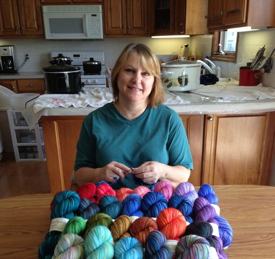 Hand dyed yarn started out as a hobby for Laura Thompson, 49, of Wyoming but now it has turned into a fun thriving business as reported by MLive arts and crafts reporter Jennifer Ackerman Haywood.