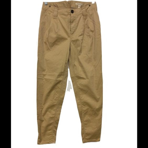 Burberry Brit Chinos Cotton Khaki size UK 4, XS BB chinos with a bit of sheen to cotton, NWOT, XS Burberry Pants Ankle & Cropped