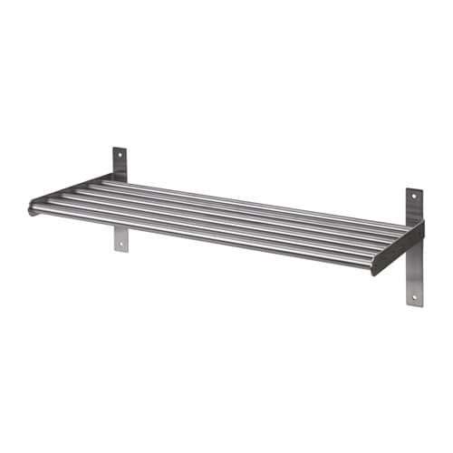 Grundtal Wall Shelf Stainless Steel Ikea Stainless Steel Kitchen