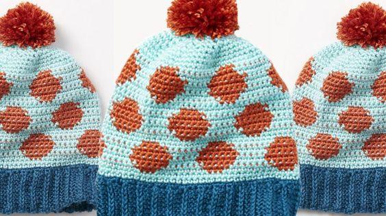 Crochet Going Dotty Hat + Tutorial