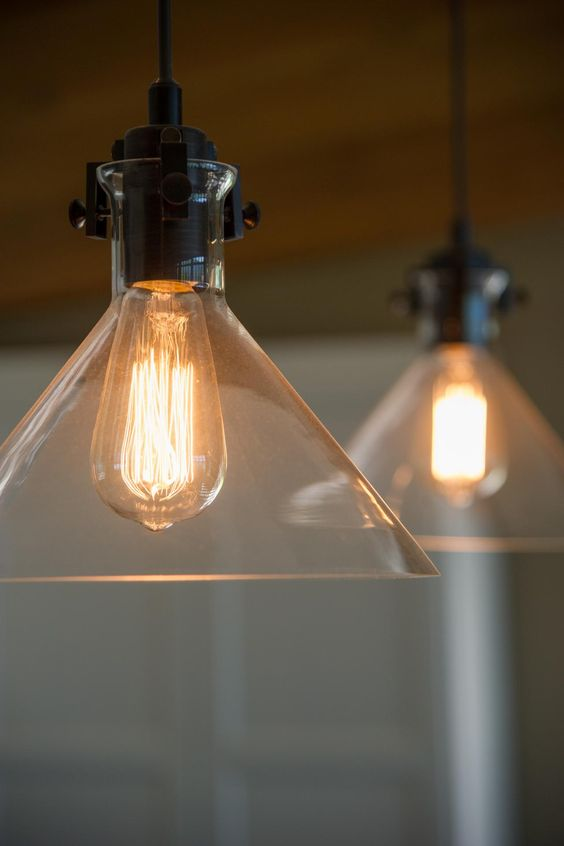 Pendant Lighting in Blog Cabin's Kitchen