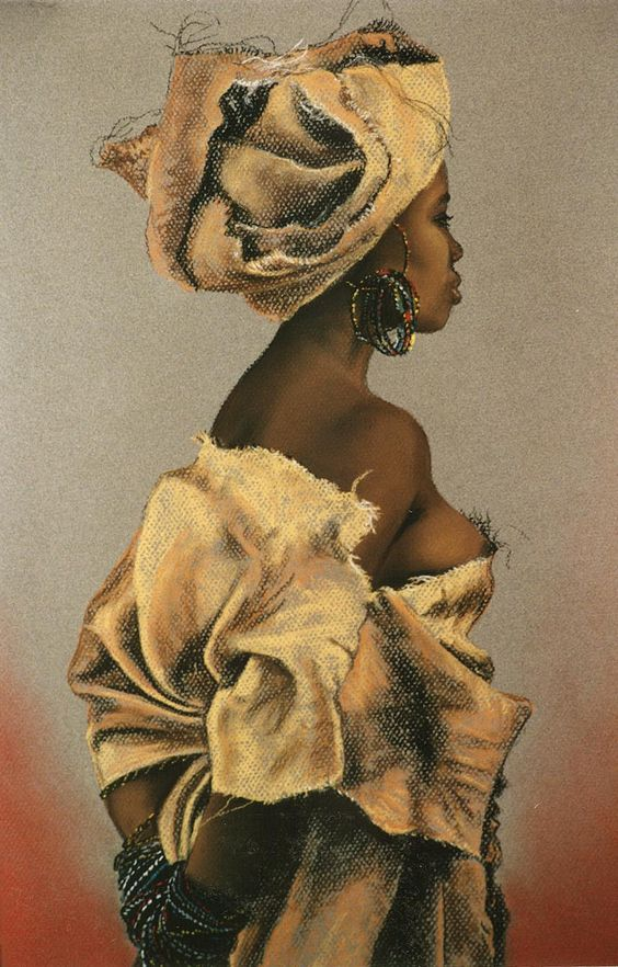 "fyblackwomenart: ""African Lady by JudithAitken """