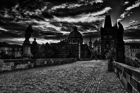 Prague, black and white, photography, photo, travel photography, charles bridge