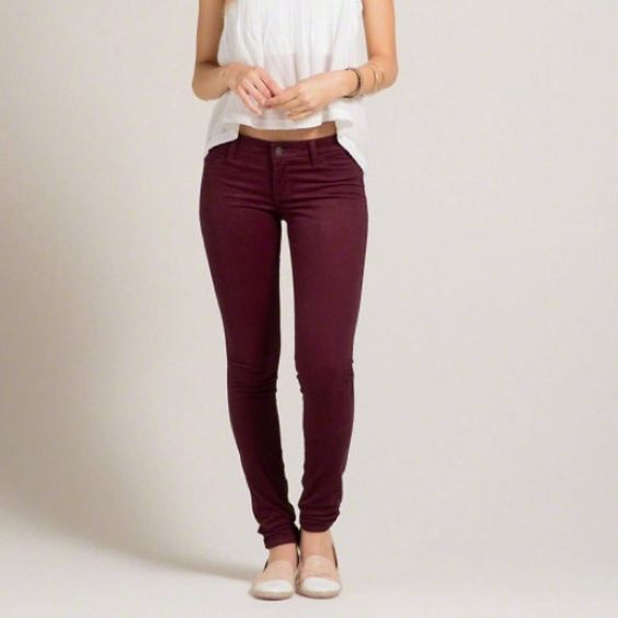 Hollister burgundy velvet jeans  ❤️ Great condition. Worn two times. No rips/holes - nothing wrong . OPEN TO OFFERS  Hollister Jeans Skinny