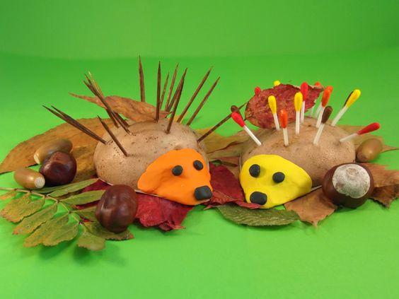 Jeż z ziemniaka. Z ziemniaków i patyczków można w prosty sposób zrobić jeża.