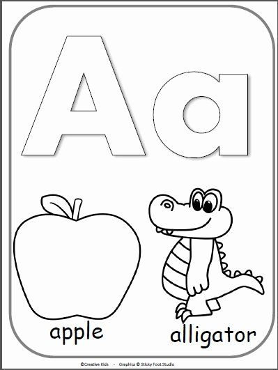 Alphabet Coloring Sheets A Z Pdf In 2020 Kindergarten Coloring
