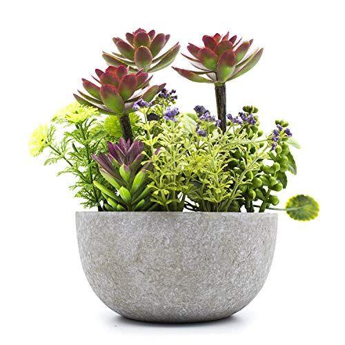 Kelzia Pot De Fleurs Artificiel Avec Decorations De Plantes Artificielles Bureau De Bureau Table Fene En 2020 Plantes Artificielles Pot De Fleurs Fleurs Artificielles