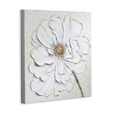 Plaster Floral Painting Print on Canvas