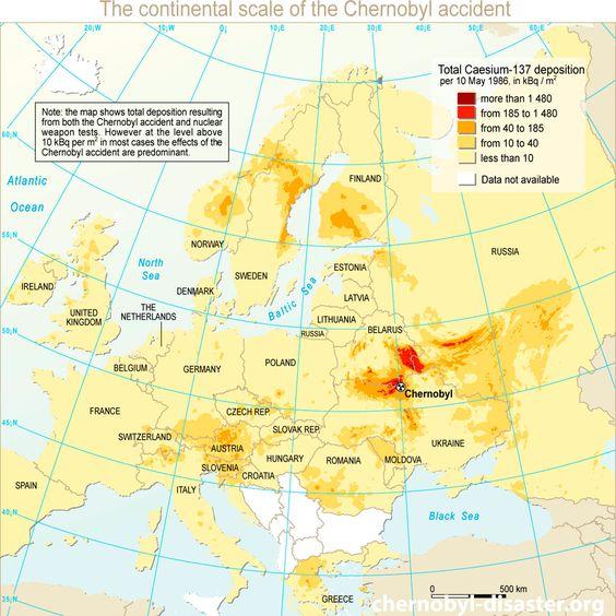 Чернобыль местоположение на карте и Чернобыльской катастрофы карте