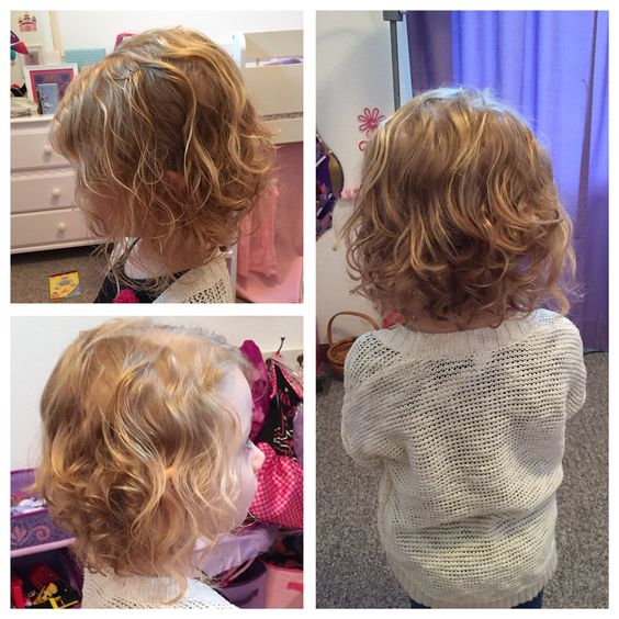 Toddler girl curly hair Bob short haircut: