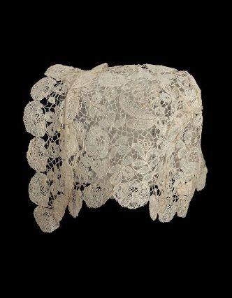 Cap, English, mid-19th Century, Honiton, England. Linen bobbin lace (Honiton Lace)