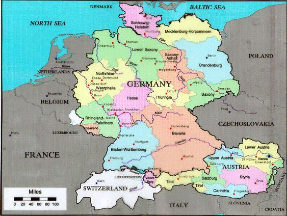 Slovenia is close to Austria Croatia Eastern Europe – Map Austria Germany