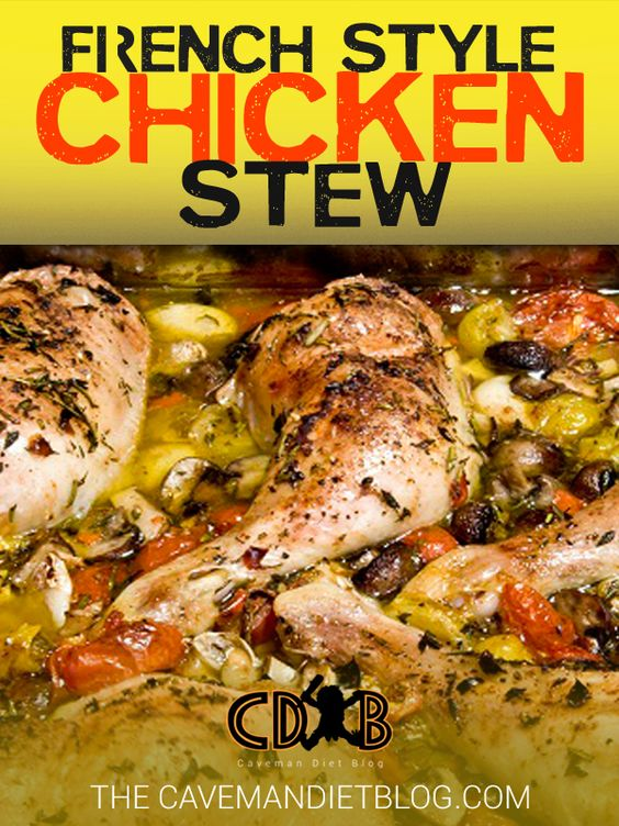 Paleo Dinner Recipes: French Style Chicken Stew - http://cavemandietblog.com/paleo-dinner-recipes-french-style-chicken-stew/ #HealthyDinner, #HealthyRecipes, #Paleo, #PaleoDiet, #PaleoDinner, #PaleoDinnerRecipe, #PaleoDinnerRecipes