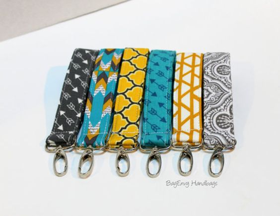 BagEnvy Handbags Key Chain / Key Fob - Swivel Clasp Key Wristlet - Choose Your Fabric  Can be made in any fabric :…