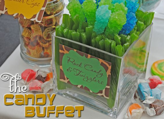 jungle theme candy buffet projects to try pinterest rh pinterest com