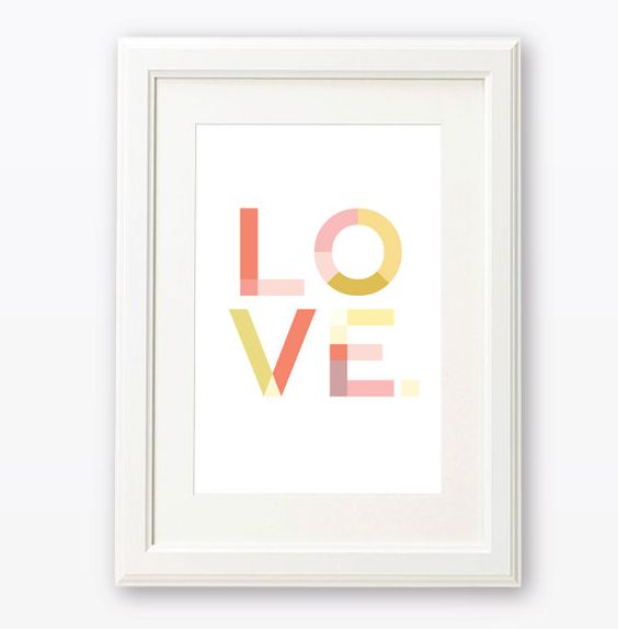 LOVE 8 x 10 or A4 Art Print / Wall Art by ChirpieDesign on Etsy, $22.00