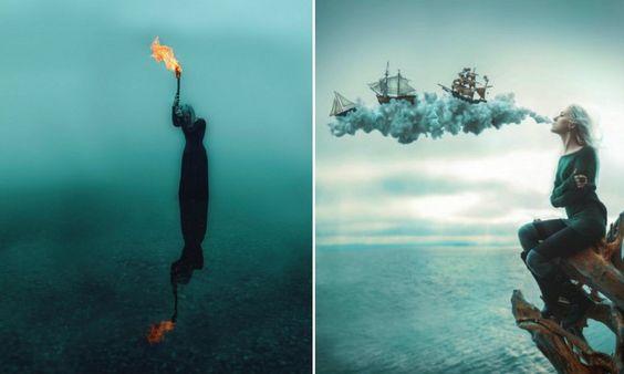 Artista cria seu próprio mundo onírico com série de fotos surreal