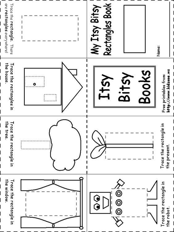 Rectangle Itsy Bitsy Book | Pre-school Ideas | Pinterest ...