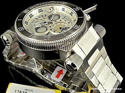 New Invicta 51mm Coalition Force Swiss Made Quartz Chronograph Silver Dial Watch