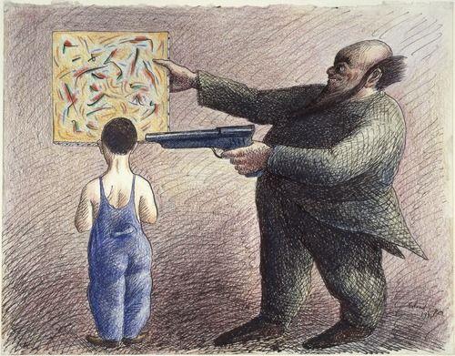 """Roland Topor, """"Education culturelle"""", 1981 (MNAM)"""