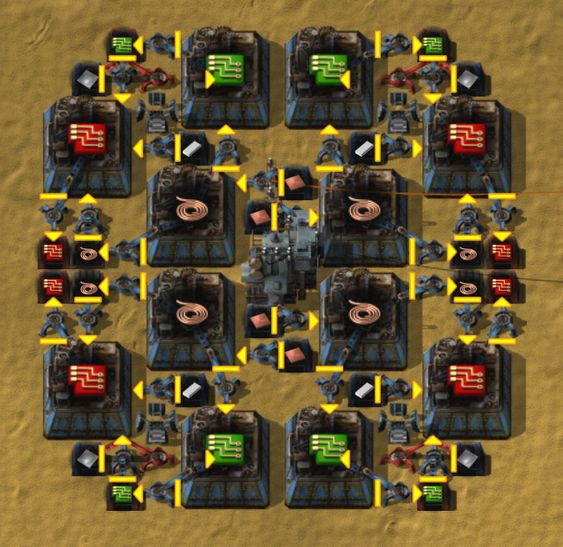 Electronic Circuit Assembling Network Factorio