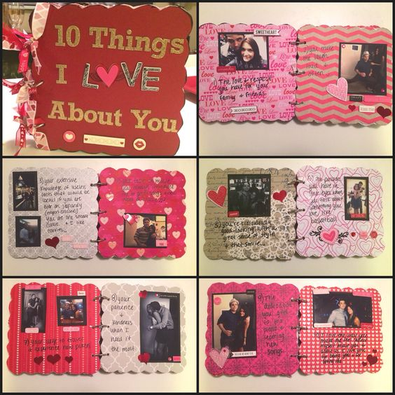 Boyfriend gift idea chipboard scrapbook diy gifts for Valentines day ideas for men