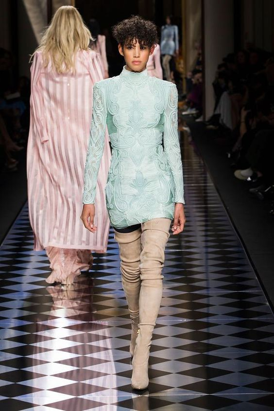 View all the catwalk photos of the Balmain autumn (fall) / winter 2016 showing at Paris fashion week.  Read the article to see the full gallery.