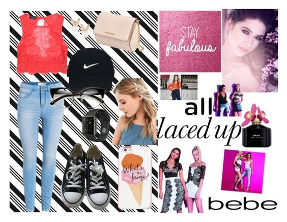 """""""All Laced Up for Spring with bebe: Contest Entry"""" by omaduviemaya ❤ liked on Polyvore featuring Darice, Bebe, Converse, Givenchy, Nike Golf, Kate Spade, Urban Outfitters, Aamaya by priyanka, Marc Jacobs and alllacedup"""