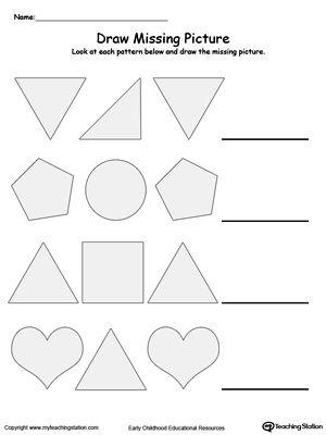 Pattern Worksheets » Geometric Pattern Worksheets Middle School ...