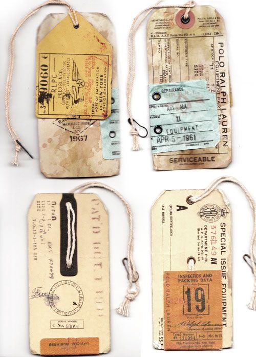 Love these old travel tags