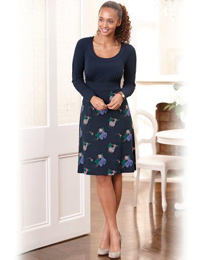 Jersey Floral Skirt Dress