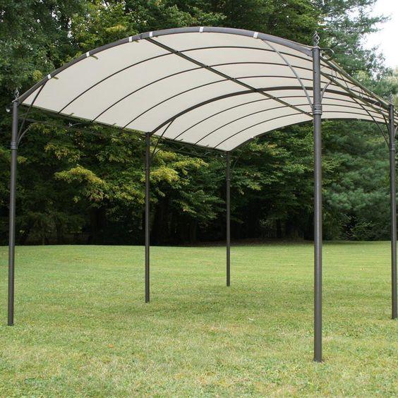 Tonnelle de jardin autoportante capri 300x400m toile d for Idee deco jardin facile