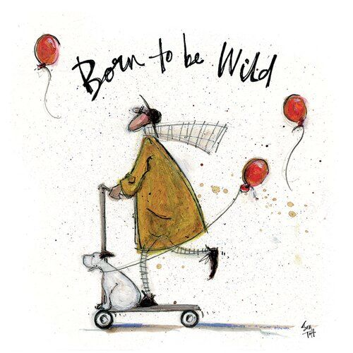 Sometimes we Just Sit and Think Canvas Ready To Hang 30 x 30cm Sam Toft