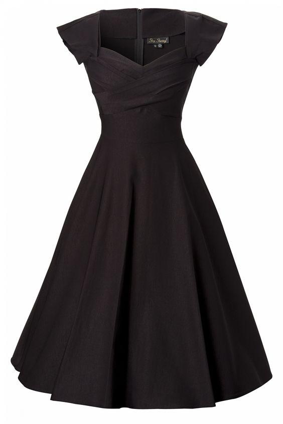 Stop Staring! - 50s Mad Men swing dress black