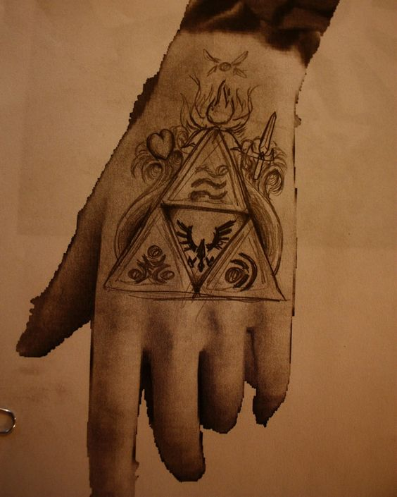 Pinterest the world s catalog of ideas for Triforce hand tattoo