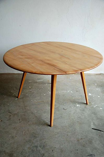 Ercol Round Dining Table Designed By Lucien Ercolini Britain Round Drop Leaf Dining Table Elm